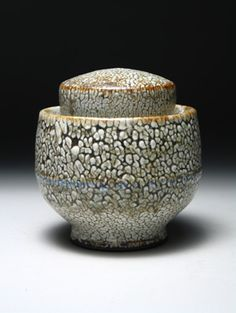 Matthew Hyleck | Stoneware tea caddy, glazed with shino & ash, and fired to ^10 reduction.