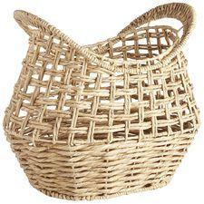 Allison Natural Open-Weave Wicker Basket