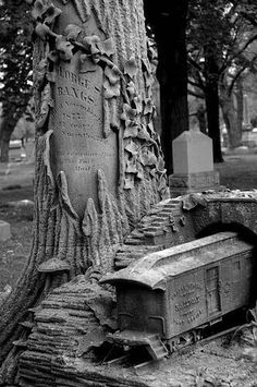 Must have loved trains ..... Rosehill Cemetery in Chicago, Illinois