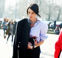 @Who What Wear - 13 Style Tricks That Will Instantly Update Your Basic Button Up