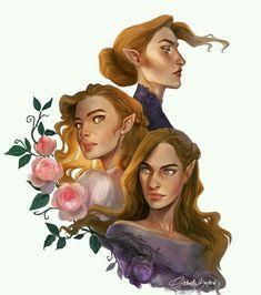 NESTA, ELAIN, AND FEYRE