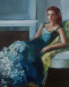 The Blue Gardenia Gown by janethillstudio on Etsy #Janet #Hill #art