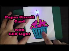 Cupcake Paper Circuit Card with LED Light Explore the world of elementary science while learning how to make a light up paper circuit card with a LED light. Practice your skills with a basic electric… Circuit Crafts, Circuit Projects, Paper Circuit, Stem Projects, Science Projects, Outdoor Fotografie, Karten Diy, Lumiere Led, Winter Crafts For Kids