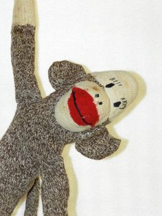 Antique Sock Monkey by FerryTaleTreasures on Etsy, $20.00