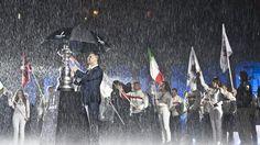 Luna Rossa and the America's Cup in the Napoli rain © PHOTO: © CARLO BORLENGHI