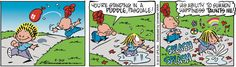 "We could all be more this way! (""When life gives us water balloons, we can dance in the puddle!"")"
