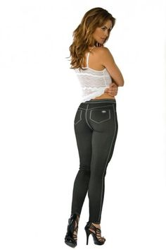 Cosabella Jeans are not Jeggings!…..to help you know the difference between Cosabella Jeans and the Jeggings..   Jeggings are: Denim derived leggings made with stretch denim. They are heavier and are in fact jeans.  Jeggings are heavier, take longer to dry, and can be more expensive if they are designer jeggings.   Cosabella Jeans are: Leggings and Tights …