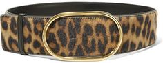 Leopard-print faux calf hair Push stud fastening Made in Italy Leopard Print Wedding, Stella Mccartney Jeans, Leopard Belt, Studded Belt, Classic Outfits, Belt Buckles, Calves, Hair Accessories, Womens Fashion