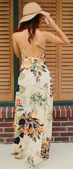 Cross back summe maxi. Stitch fix spring/summer 2017 inspiration. Ask your stylist for something like this in your fix. Click on the picture to fill out your style profile. Enjoy! #sponsored