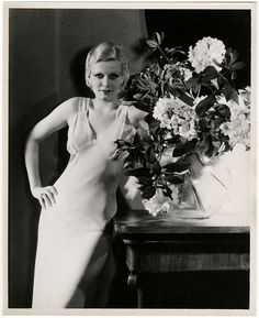 Rare '32 Jean Harlow Sensual Art Deco Pre-Code George Hurrell Photograph Vintage