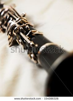 Close up of a clarinet. - stock photo
