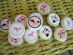 Pony Show Horse Birthday Lip Gloss Pots Party Favors 12pk. $12.00, via Etsy.