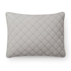 Chaps+Round+Bead+Embroidered+Quilted+Throw+Pillow