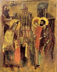 Введение во храм Пресвятой Богородицы. Охрид (Македония), XIV век