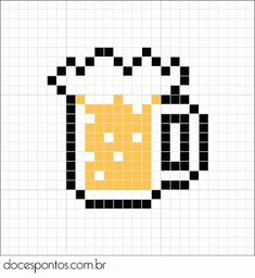 Beer perler bead pattern                                                                                                                                                      Mais