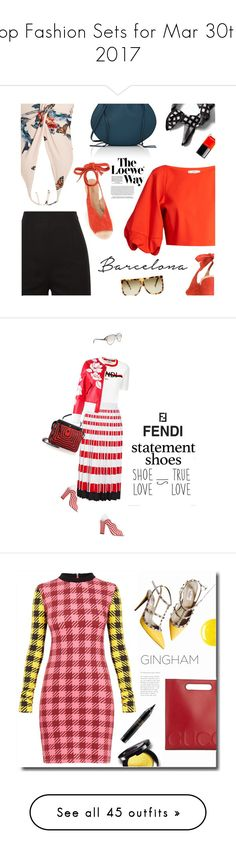 """""""Top Fashion Sets for Mar 30th, 2017"""" by polyvore ❤ liked on Polyvore featuring Banana Republic, TIBI, Katie Eary, Derek Lam, Loewe, Chanel, Fendi, fendi, statementshoes and Valentino"""