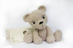 PATTERN : Amigurumi-Bear-teddy Bear -Classic Bear-Crochet -Knitted Stuffed animals- doll-toy-baby shower