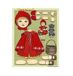 RED RIDING HOOD ART PAPER DOLL-ARTIST SIGNED-LAST ONE (09/07/2011)