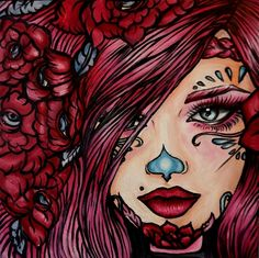 Olivia, day of the dead girl by Brittany Hanks, via Behance