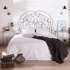 Tete de lit en fer forgé Patiné Gris L160xH143cm CHINON 158 euros