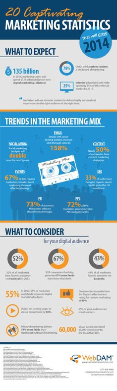 20 Amazing Marketing Statistics That Will Drive 2014 (Infographic) image 20 Captivating Marketing Statistics