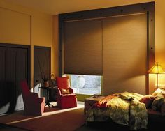 Complete the look of your room with one of these amazing Hunter Douglas bedroom window treatments that come in varied styles like blinds, shades, sheers & more. Blockout Blinds, Honeycomb Blinds, Blinds Online, Blackout Shades, Custom Blinds, Hunter Douglas, Front Rooms, My Dream Home, Window Treatments