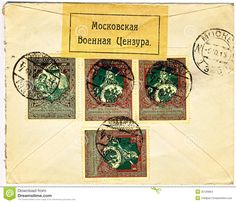 antique russian envelope - Google Search