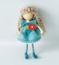 Waldorf Inspired Bendy Doll Waldorf Miniature by TanglewoodLane, $35.00