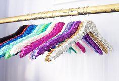 sequin hanger bridal hanger glitter hanger by PrimAndPrairie