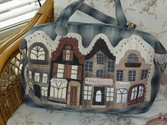 The Dutch Townhouses bag & iPhone cosy© - PDFpattern by Malgorzata Joanna Jenek