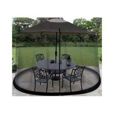 Large Outdoor NineFoot Umbrella Table Patio Screen Net Protector Mosquitoes Safe #gardcreat