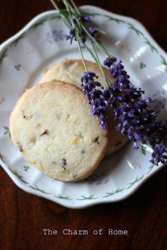 The Charm of Home: Lemon-lavender shortbread