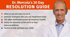 Take control of your health with Dr. Mercola's 30 Day Resolution Guide, a collection of health tips that aims to address topics such as diet, exercise, emotional health and sleep among others.