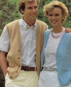 Vintage Knitting Pattern Instructions to Make a Ladies & Mens Waistcoat in DK