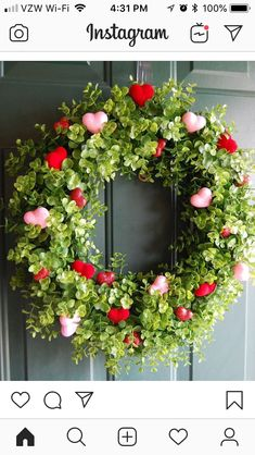 Boxwood Wreath with Hearts. DIY Valentine Wreath Crafts – Adorable Valentine's D… Boxwood Wreath with Hearts. DIY Valentine Wreath Crafts – Adorable Valentine's Day Decor Ideas for Your Door. Valentine Day Wreaths, Valentines Day Decorations, Valentine Day Crafts, Holiday Crafts, Holiday Fun, Valentines Day Office, Valentines Hearts, Valentine Day Love, Holiday Tree