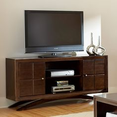Have to have it. Princeton TV Stand by Martin Home Furnishings - Toasted Cherry Finish - $629 @hayneedle