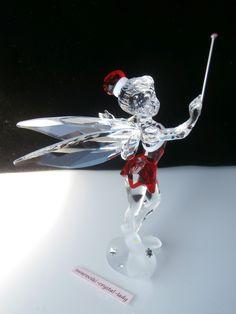 Swarovski Trilli Tinker Bell red dress 1143621 Weihnachts Fee Disney Christmas