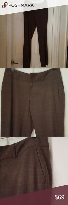 """Banana Republic Ryan Fit Stretch Trousers Absolutely Gorgeous work/dress trousers from Banana Republic in the coveted Ryan Fit style.  Fully lined, these pants are in perfect condition. Beautiful stretch fabric gives you the comfort to wear these to work, them out on the town after.  Chocolate brown with a beige and grey Glen plaid pattern done in a Smooth and supple stretch fabric.  I wore these once, and put them away for """"special""""  now I can't get I to them so my loss is your gain. Banana…"""
