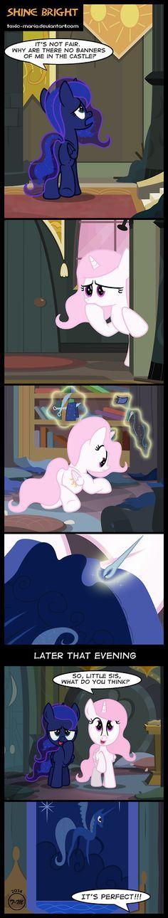"toxicmario: "" Rare filly Luna and Celestia comic this time ;D """