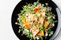 Grilled chicken, macadamia and rice salad with sweet chilli dressing - body+soul