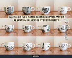 {mugs} / sharpie mug Sharpie Projects, Sharpie Crafts, Craft Projects, Mugs Sharpie, Diy Mugs, Sharpies, Sharpie Mug Designs, Diy Mug Designs, Diy Becher