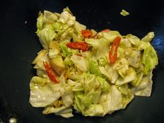 Taiwanese cabbage is flat instead of spherical like the green cabbage we see in most American grocery stores. Taiwanese cabbage is less dense than American cabbage, and its layers, as you can kind of see in the picture, are more loosely packed. Its layers are thinner, and crisp up very well when cooked. In general, …