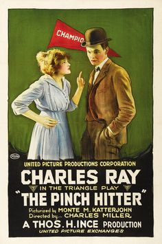 1917 The Pinch Hitter <> from ART & ARTISTS: Film Posters 1913 - 1929