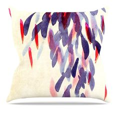 Abstract Leaves IV Throw Pillow