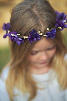 Plum Floral Crown. flower crown, Bohemian. Purple Bridal, Hair Crown. Woodland Wedding. Fall, autumn, flower girl, Bridesmaids