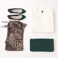 Leopard & Hunter Green