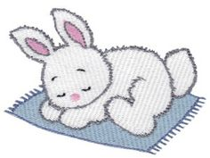 Bunnies 14 single machine embroidery design for instant download.