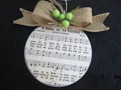 Christian Christmas Ornament  Hymns on Galvanized by glorygivers