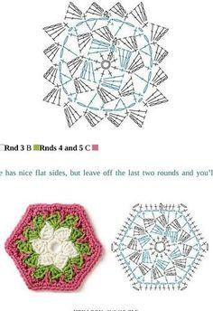 lindos quadradinhos de crochê com gráfico