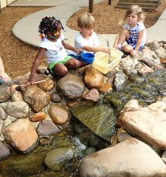 Partners In Learning's Playground Creek where children can discover their natural environment.